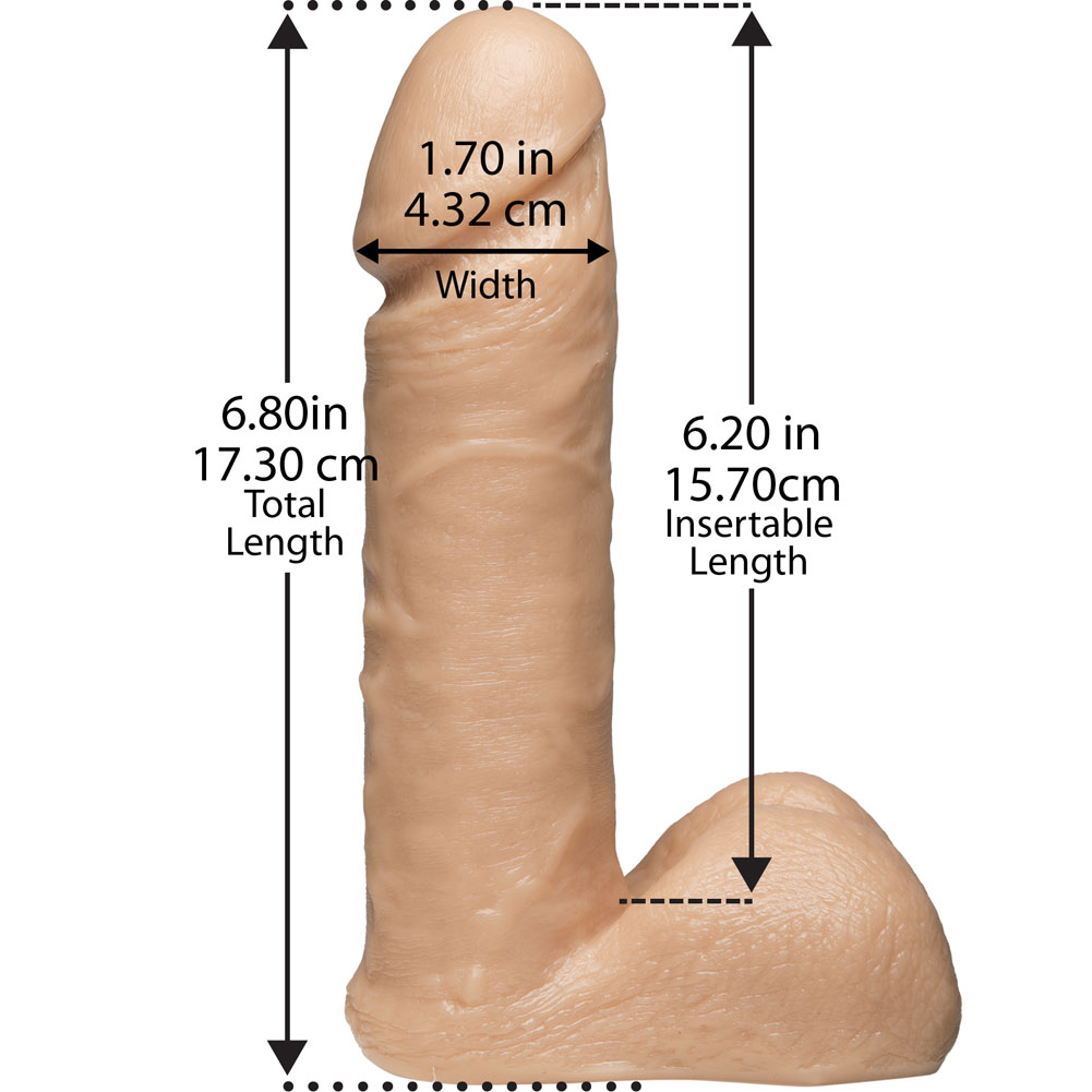 "Vac-U-Lock 6"" UR3 Cock with Balls Natural - View #3"