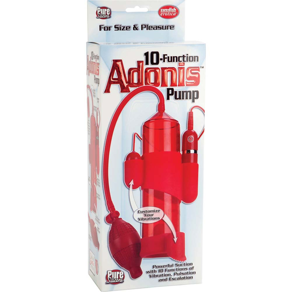 Pure Silicone 10 Function Adonis Penis Pump Red - View #1