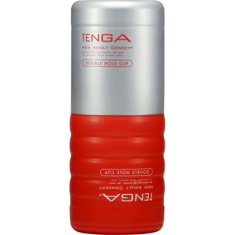 Tenga Disposable Double Hole Stroker Red - View #2