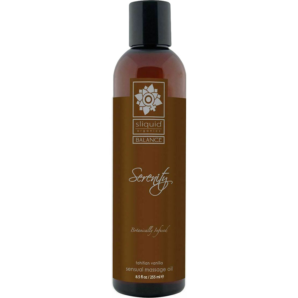 Sliquid Organics Massage Oil 8.5 Fl.Oz 255 mL Serenity Tahitian Vanilla - View #1