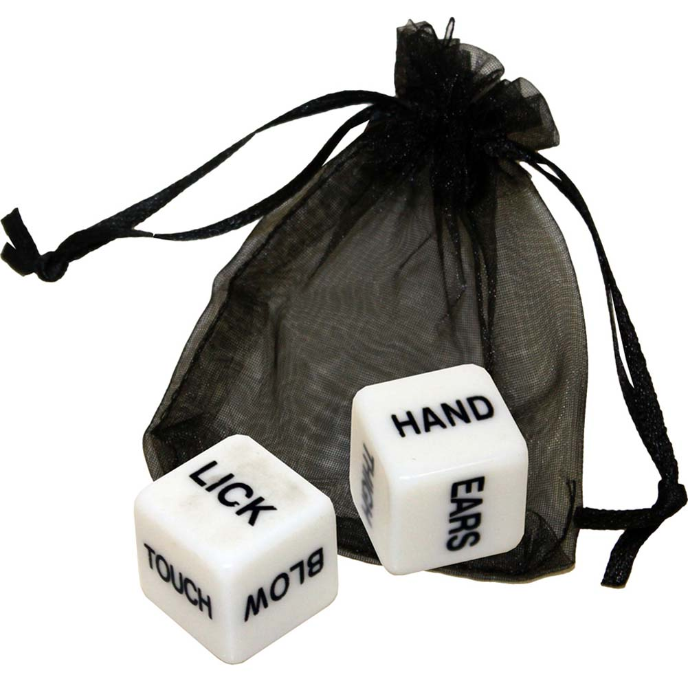 OptiSex Erotic Dice for Lovers with Storage Pouch - View #2