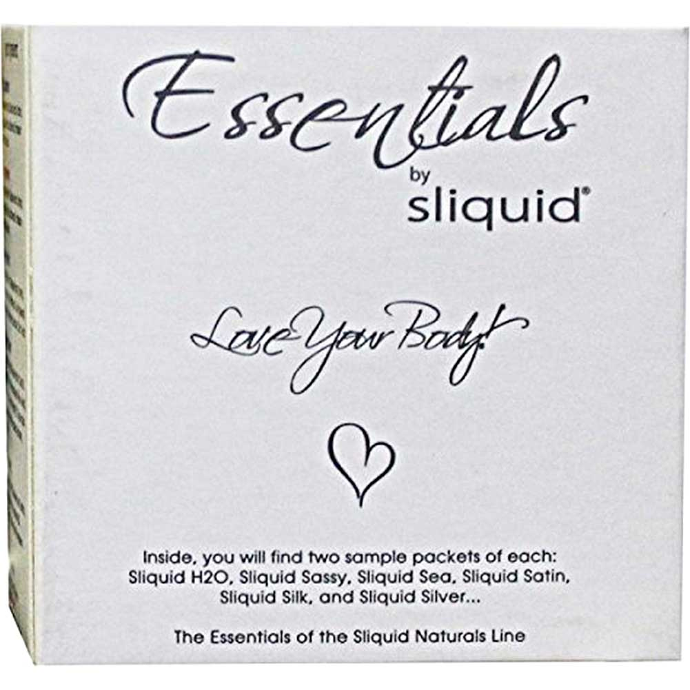 Sliquid Natural Essentials Lube Cube Sampler 12 Packets - View #1