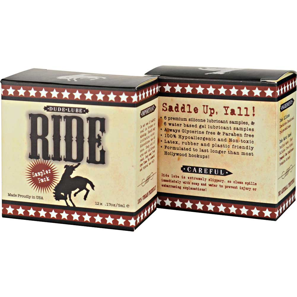 Sliquid Ride Dude Lube Cube Mixed Sampler 12 Packets - View #3