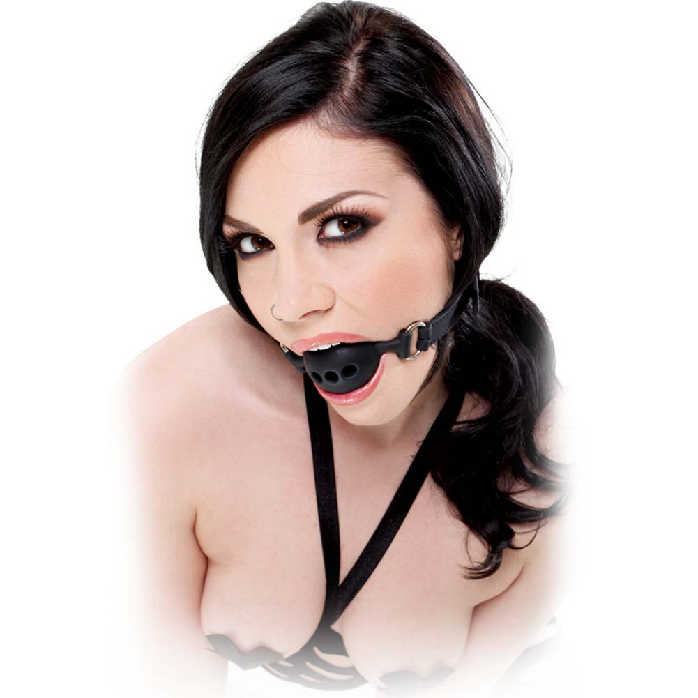Fetish Fantasy Extreme Silicone Breathable Ball Gag Large Black - View #1