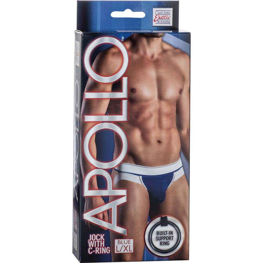 California Exotics Apollo Jock with C-Ring Blue Large/Extra Large Size - View #1