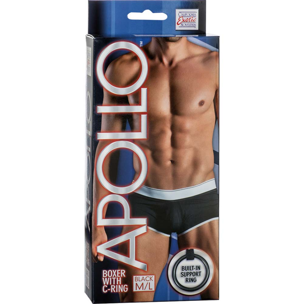 California Exotics Apollo Boxer with C-Ring Black Medium/Large Size - View #1