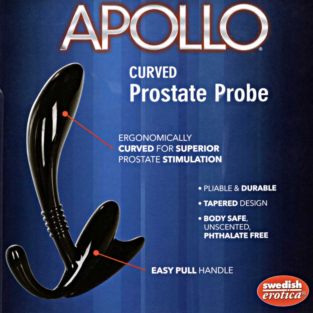 "California Exotics Apollo Curved Prostate Probe 4.75"" Blue - View #1"