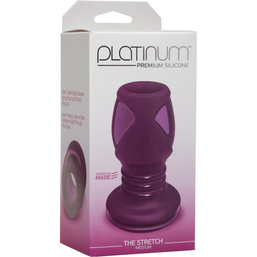 "Platinum Premium Silicone The Stretch Medium Butt Plug 4"" Purple - View #1"