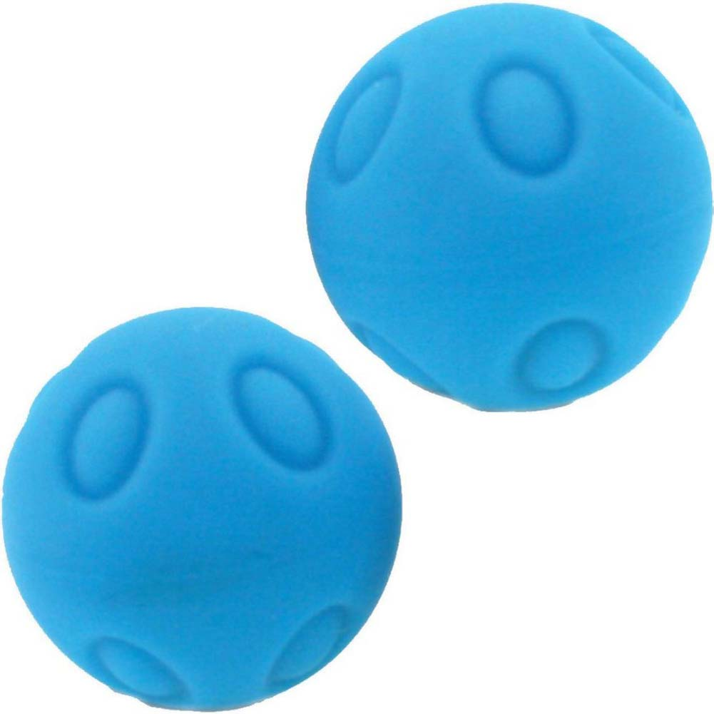 "Maia Wicked WD SB3 Silicone Dotted Kegel Balls 1.2"" Neon Blue - View #2"