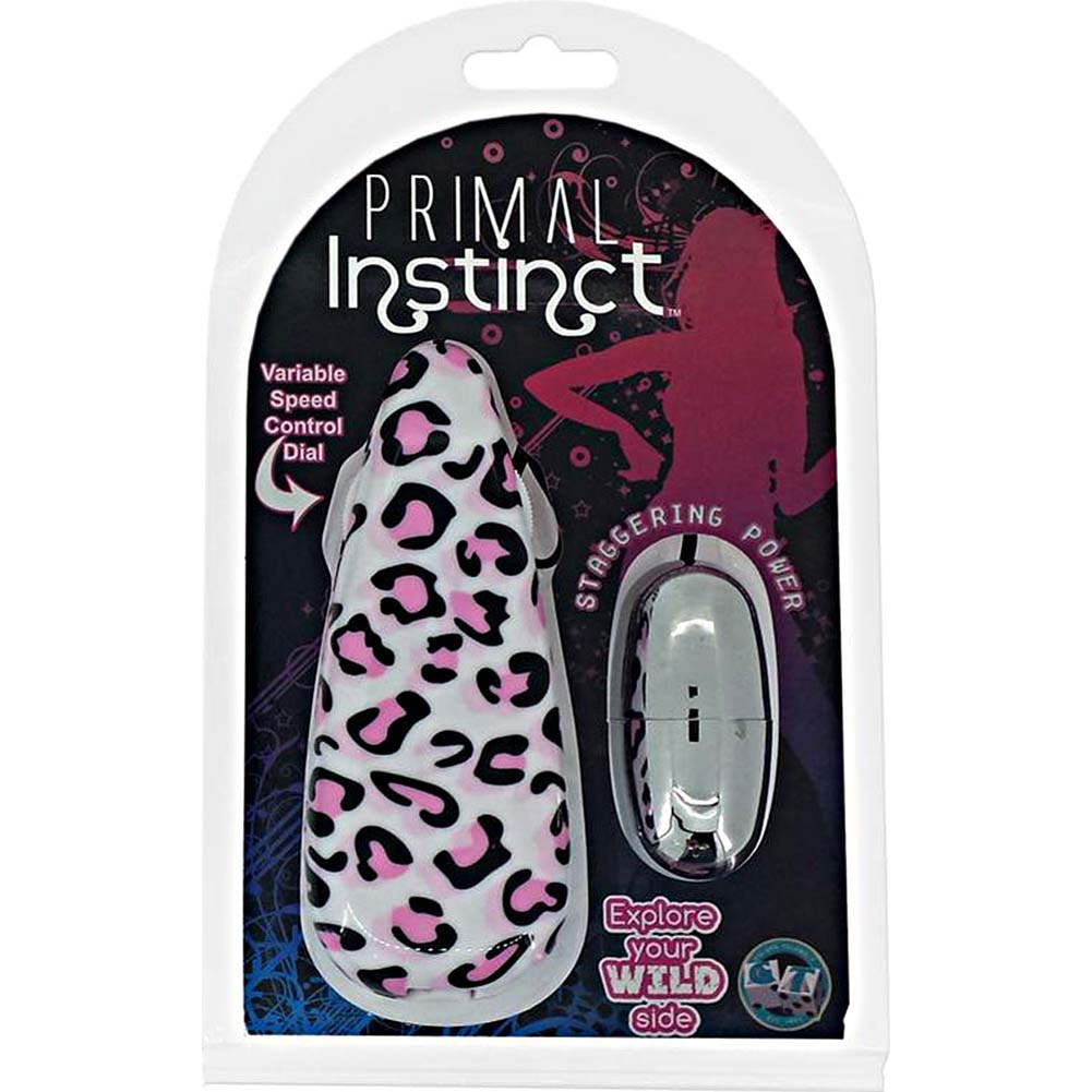 Primal Instinct Vibrating Bullet with Pink Leopard Remote Control - View #2