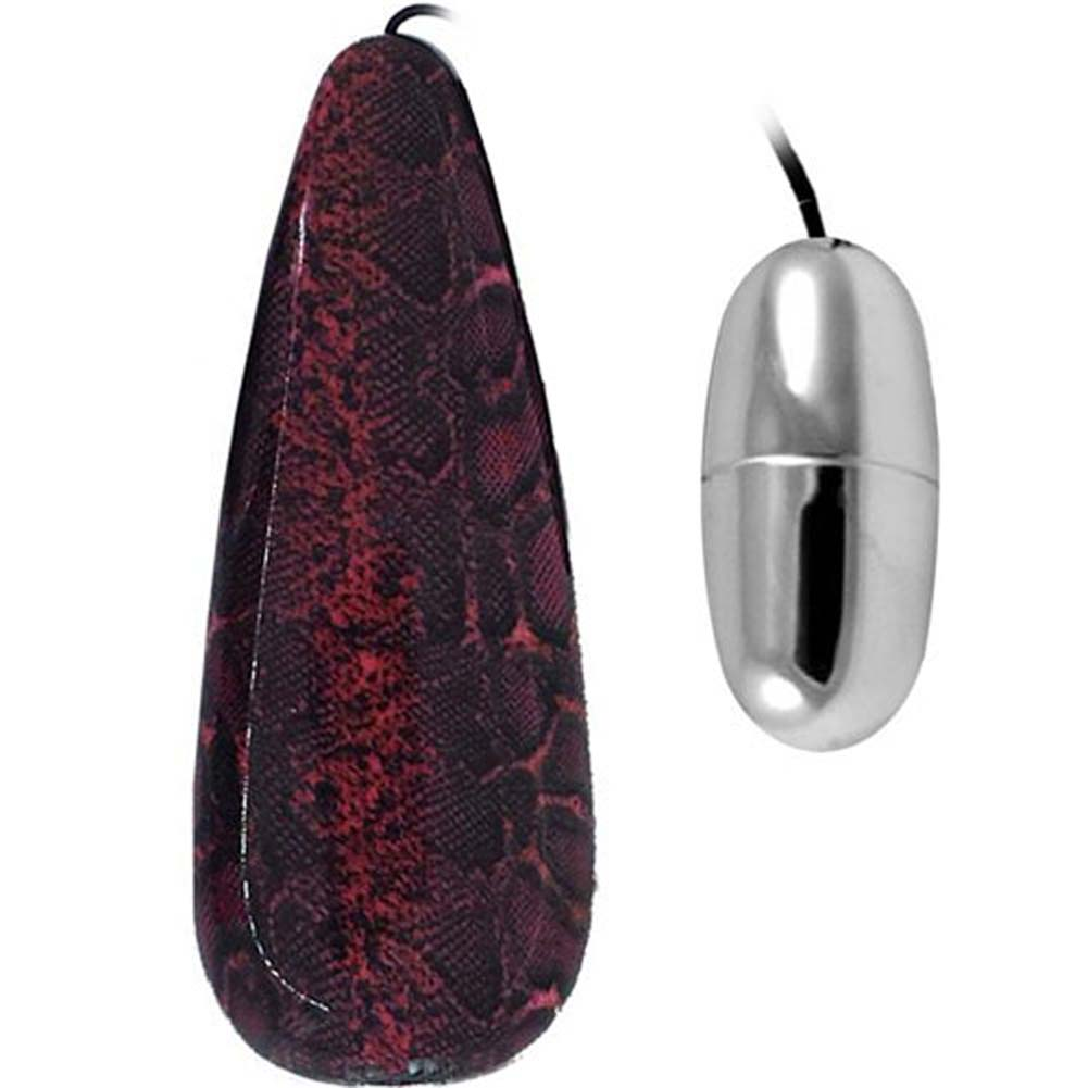 Primal Instinct Vibrating Bullet with Red Snake Remote Control - View #1