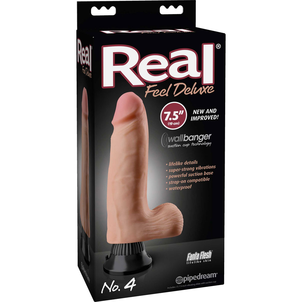 "Real Feel Deluxe 4 - Thick Realistic Vibe 7.5"" Natural - View #1"