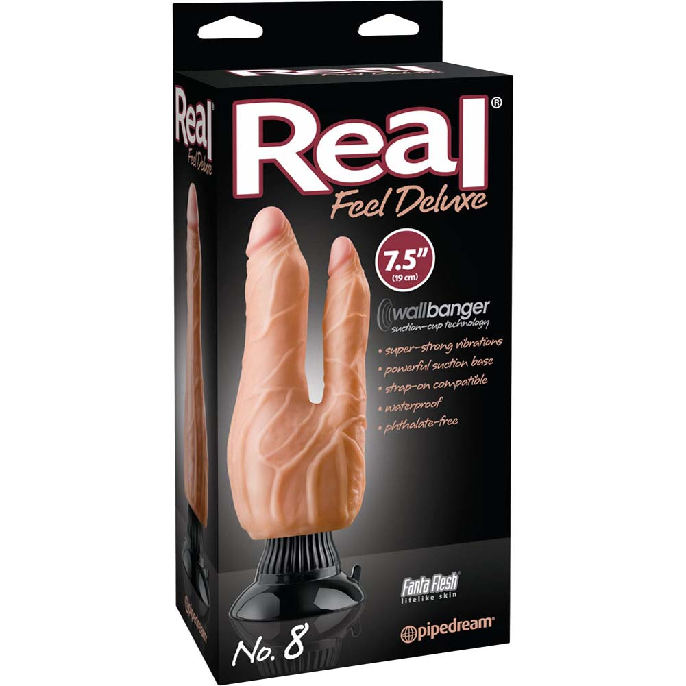 "Real Feel Deluxe 8 - Double Penetration Vibe 7.5"" Natural - View #1"