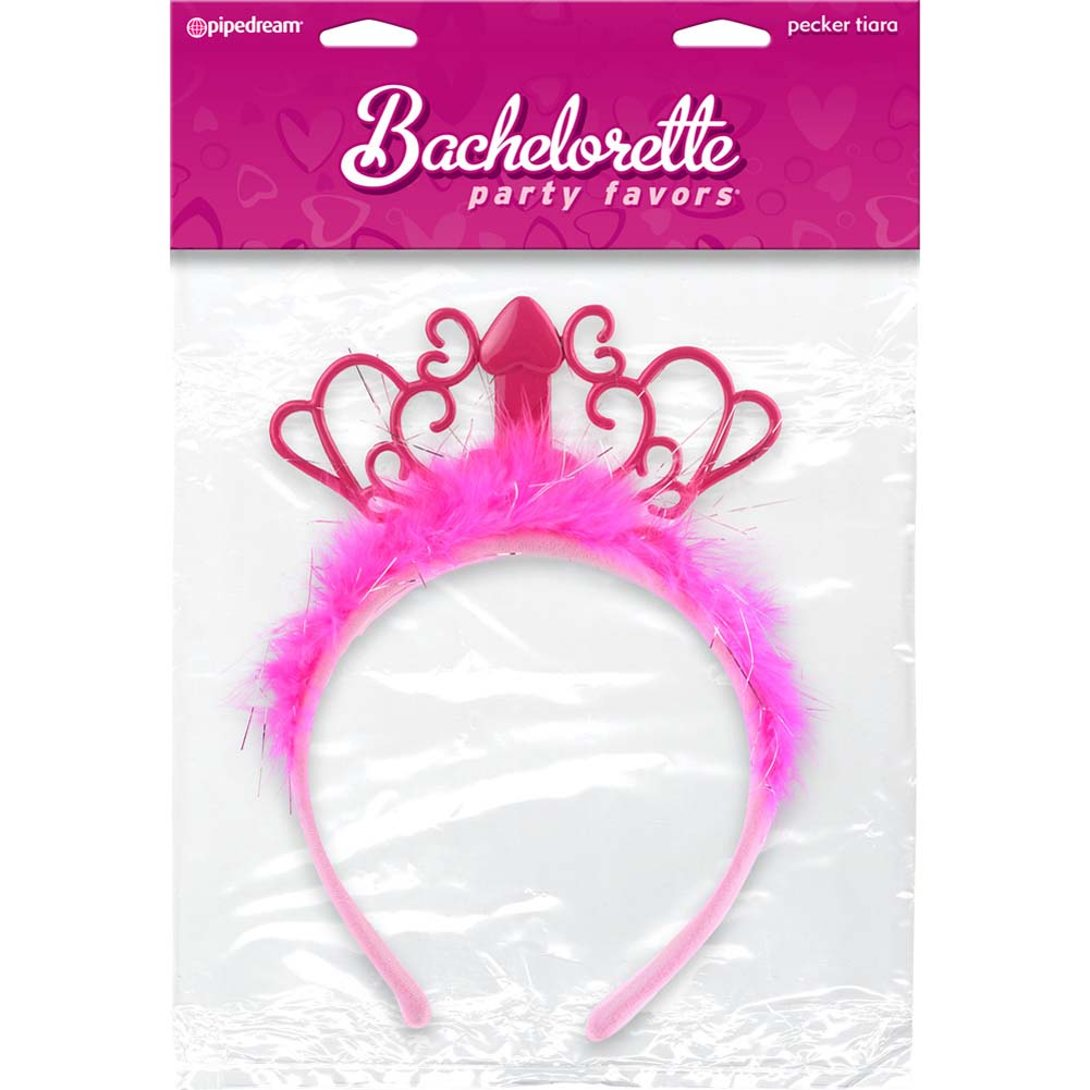 Bachelorette Party Favors Pecker Tiara Pink - View #3