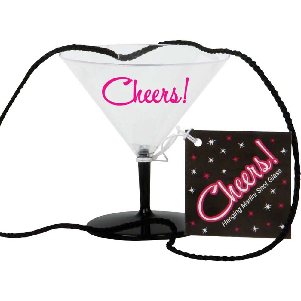Cheers Hanging Mini Martini Shot Glass - View #1