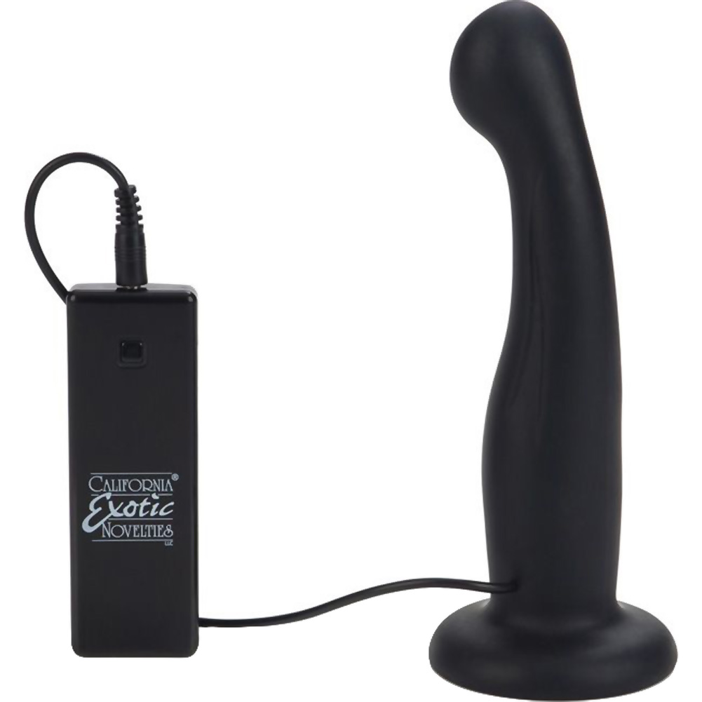 """10 Function Silicone Love Rider G-Kiss Strap-On Dong with Harness 6.5"""" Black - View #3"""