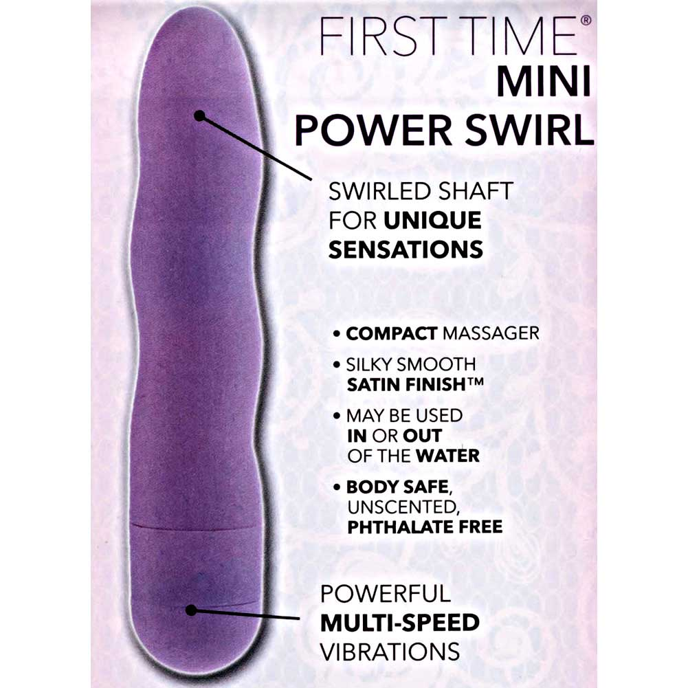"California Exotics First Time Personal Mini Power Swirl Vibe 4.5"" Sensual Purple - View #1"