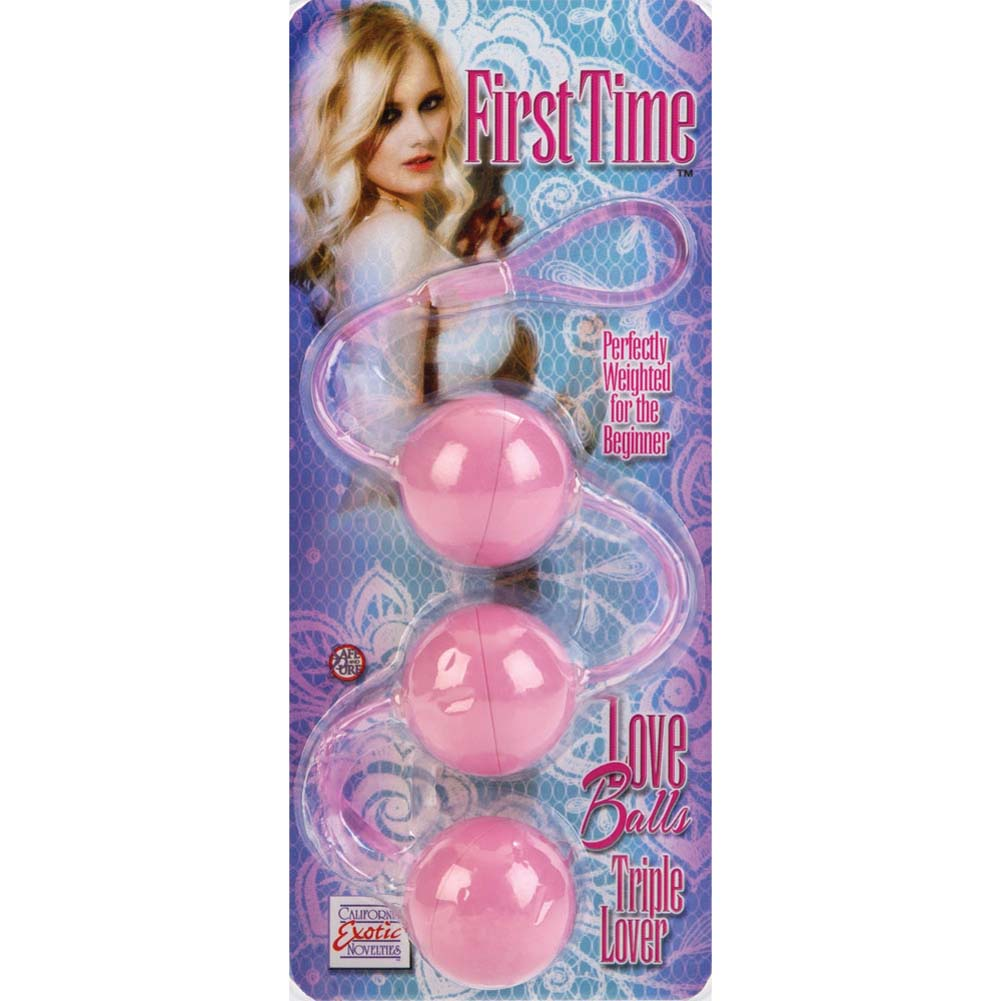 California Exotics First Time Love Balls Triple Lover Pink - View #3