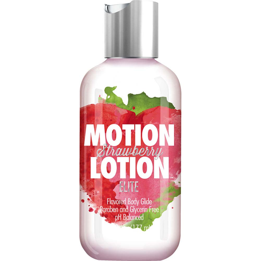 Motion Lotion Elite Flavored Body Glide Lubricant 6 Fl.Oz 177 mL Strawberry - View #1