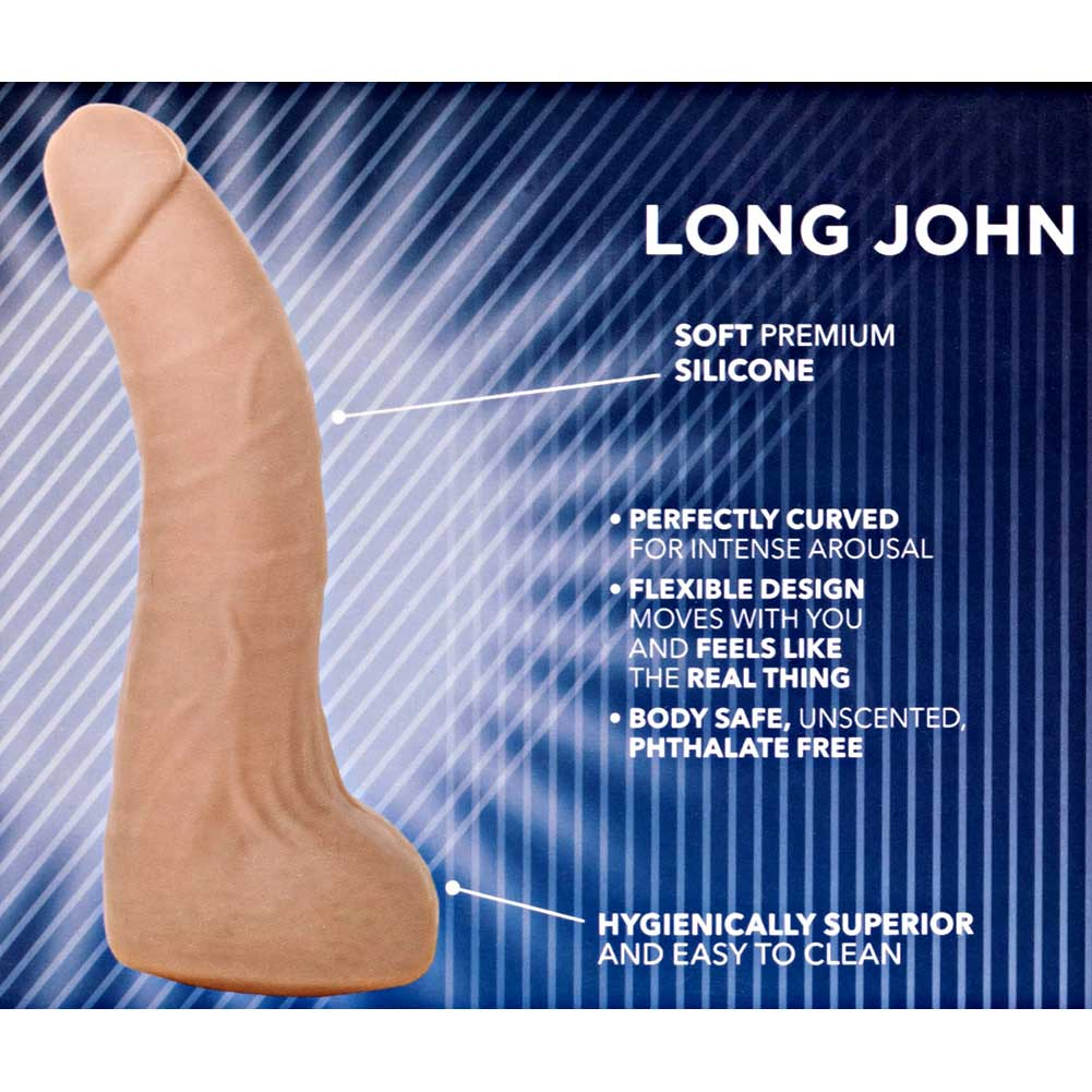 "Silicone Basics Long John Dildo 6"" Natural Flesh - View #1"