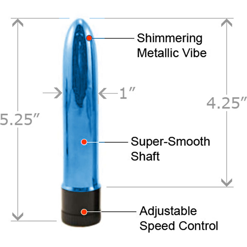 "Synergy Velvet Vibe Me Petite Intimate Pleasure Vibrator 5"" Blue - View #1"