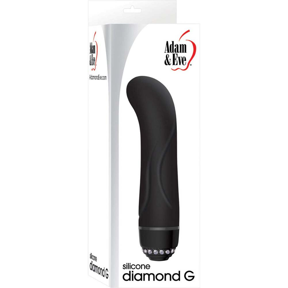 Adam and Eve Silicone Diamond G Vibrator Black - View #3