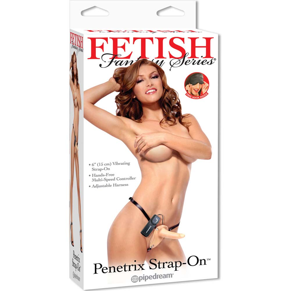 "Fetish Fantasy Vibrating Penetrix Strap-On Cock 6"" Natural - View #1"