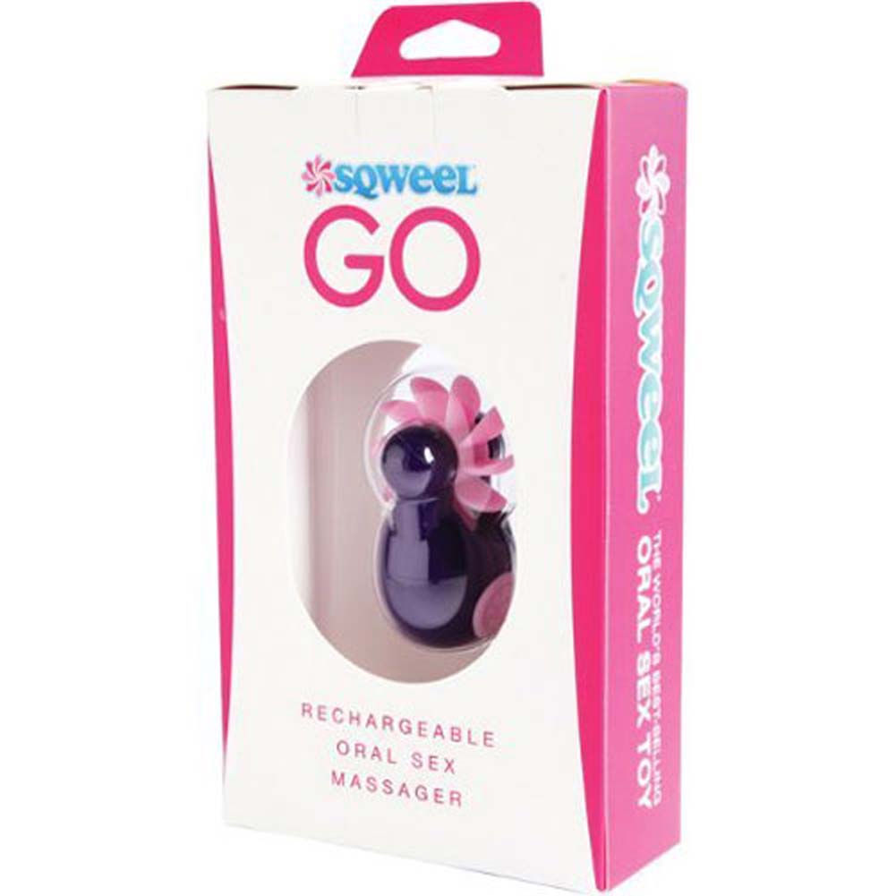 Sqweel GO Rechargeable Oral Sex Simulator for Women Purple - View #1