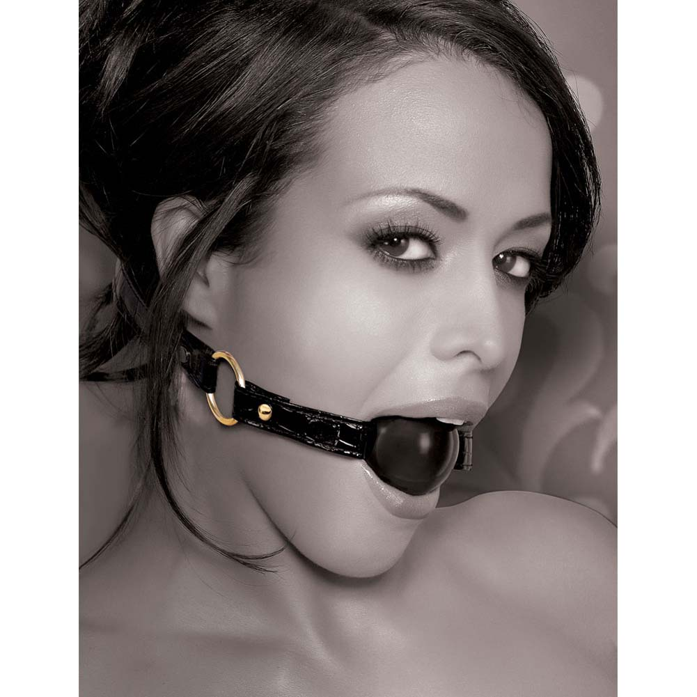 Fetish Fantasy Gold Ball Gag Black - View #2