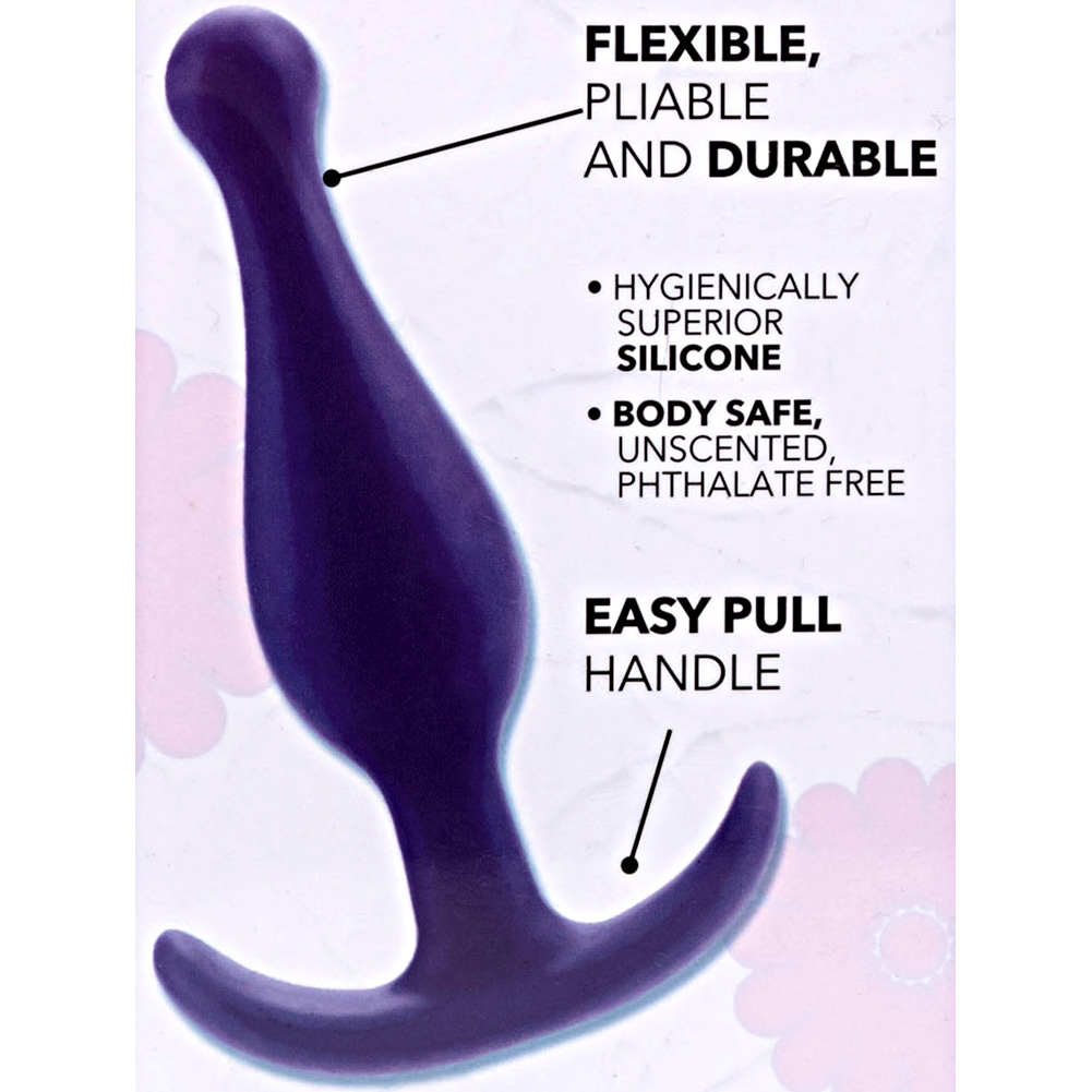 "California Exotics Booty Call Booty Rocker Silicone Anal Probe 4"" Purple - View #1"