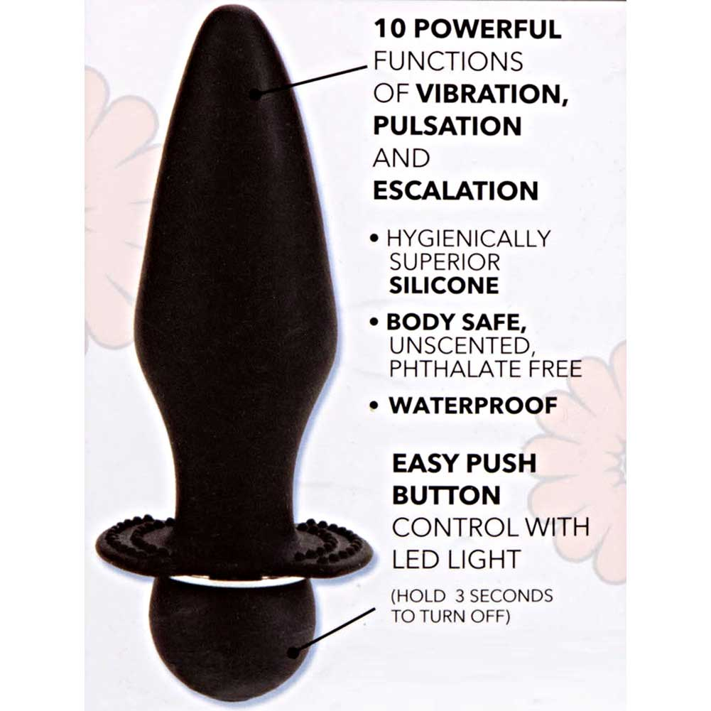 "California Exotics Booty Call Booty Rider Vibrating Butt Plug 5.5"" Black - View #1"