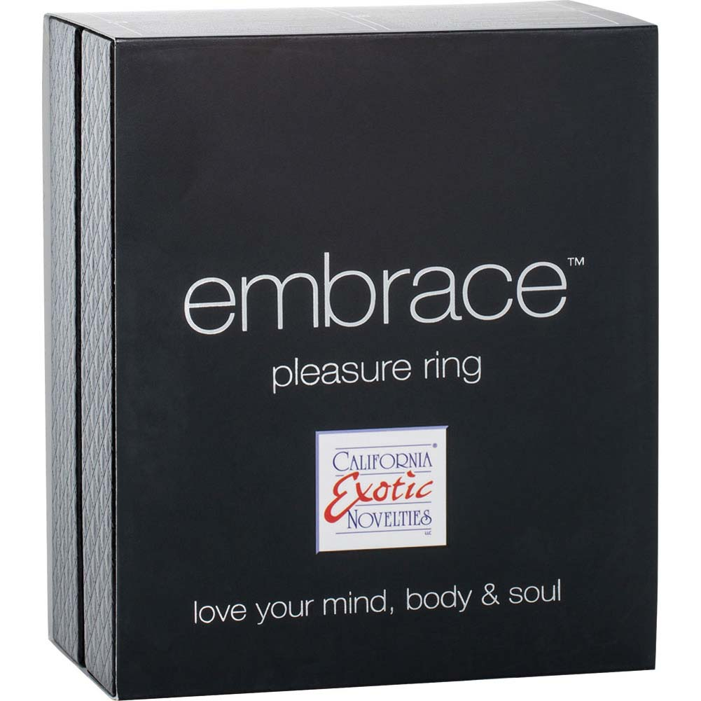 Embrace Pleasure Ring USB Rechargeable Silicone Cockring Pink - View #3