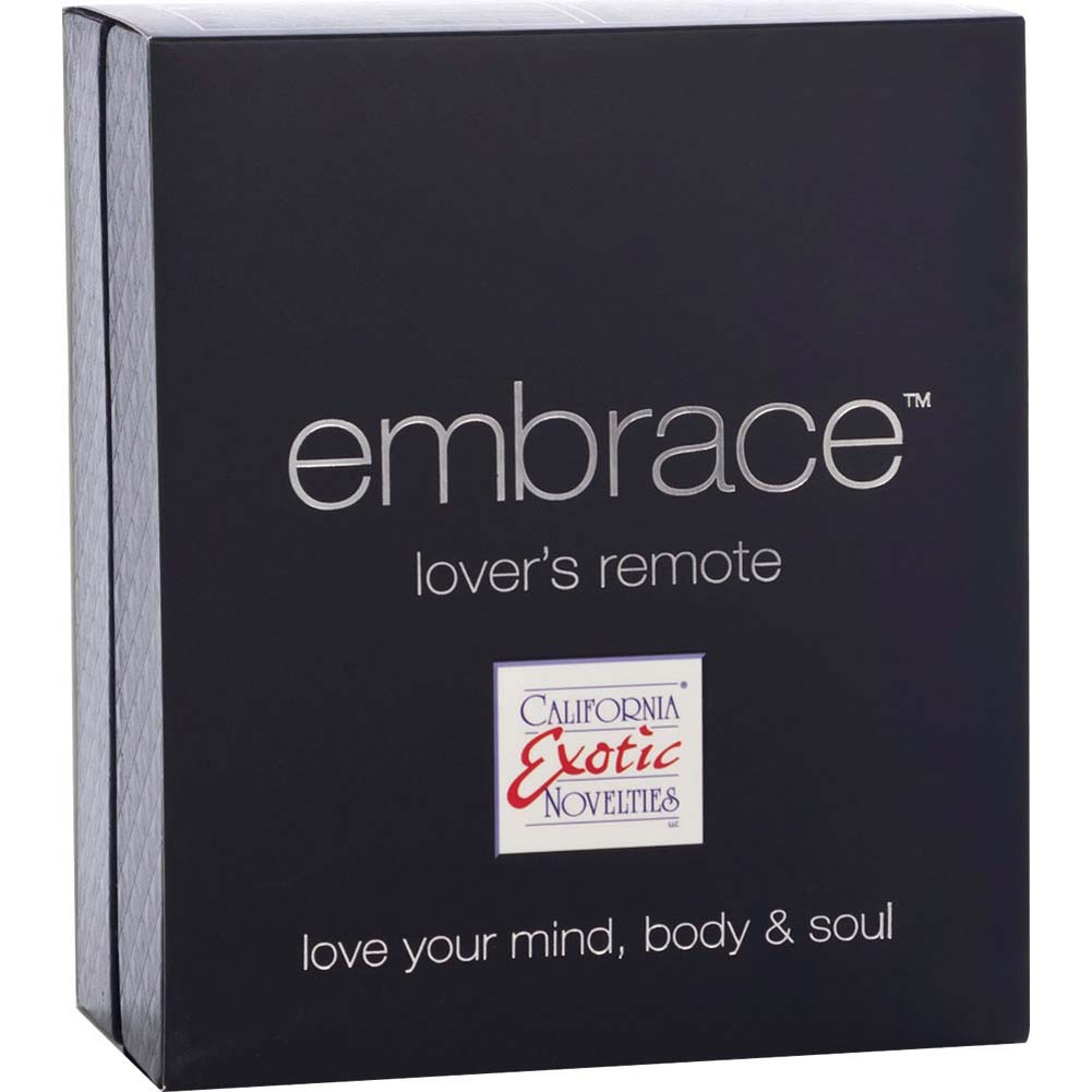 California Exotics Embrace Lovers Remote USB Rechargeable Silicone Vibe Grey - View #4