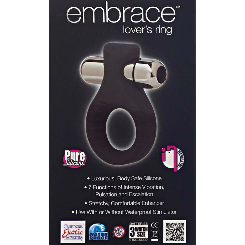 California Exotics Embrace Lovers Vibrating Silicone Ring Grey - View #1