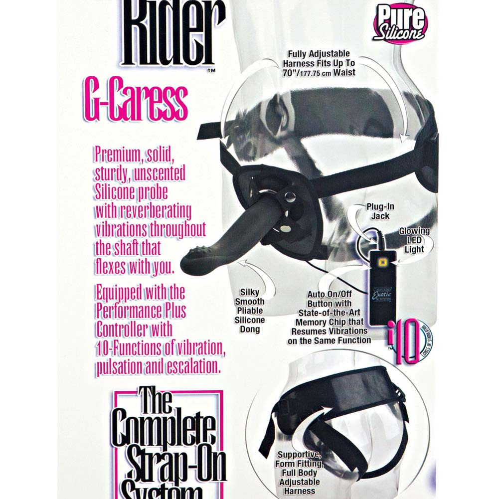 """10-Function Silicone Love Rider G-Caress 6.5"""" Black - View #1"""