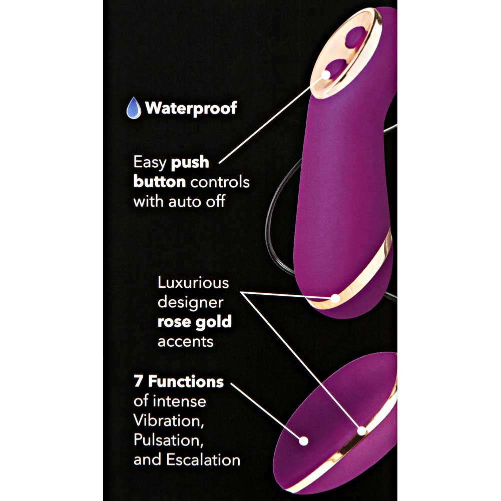 "California Exotics Entice Ella 7 Functions Vibrating Egg 2.5"" Raspberry - View #1"