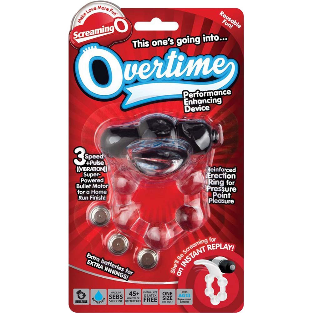 Screaming O Overtime Vibrating Erection Ring Black - View #4