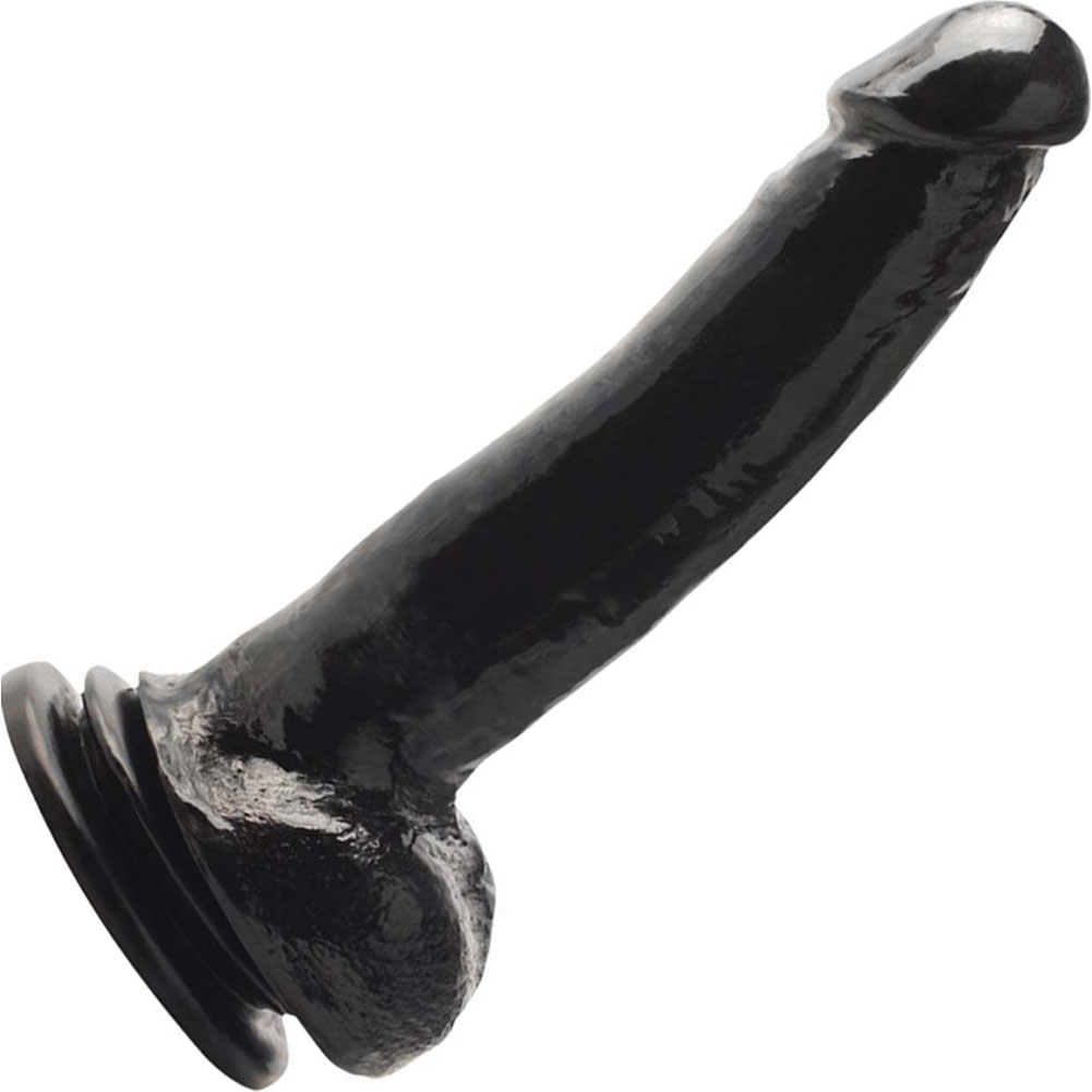 "Basix Rubber Works 9"" Suction Cup Thicky Dong Black - View #2"