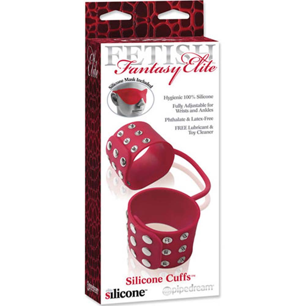 Fetish Fantasy Elite Silicone Cuffs Red - View #3