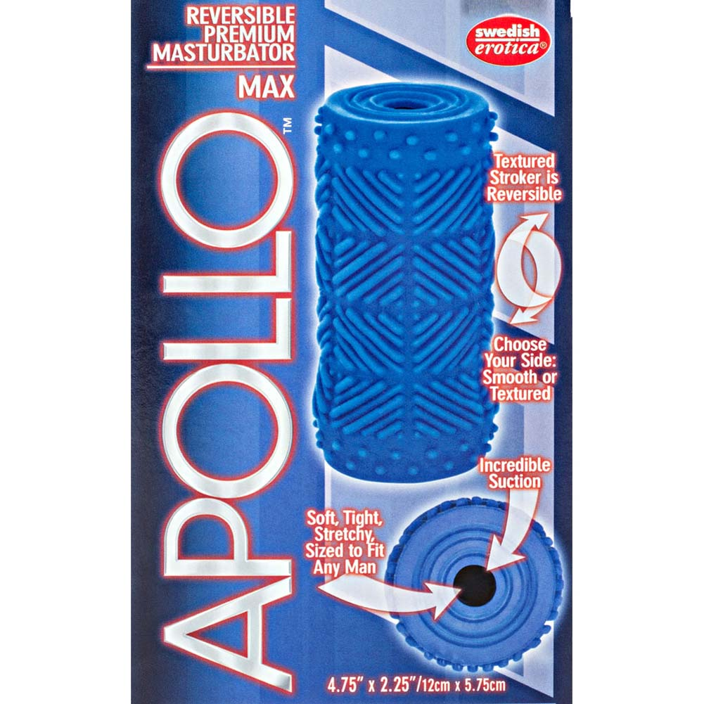 "Apollo Reversible Premium Masturbator Max 4.75"" Blue - View #1"