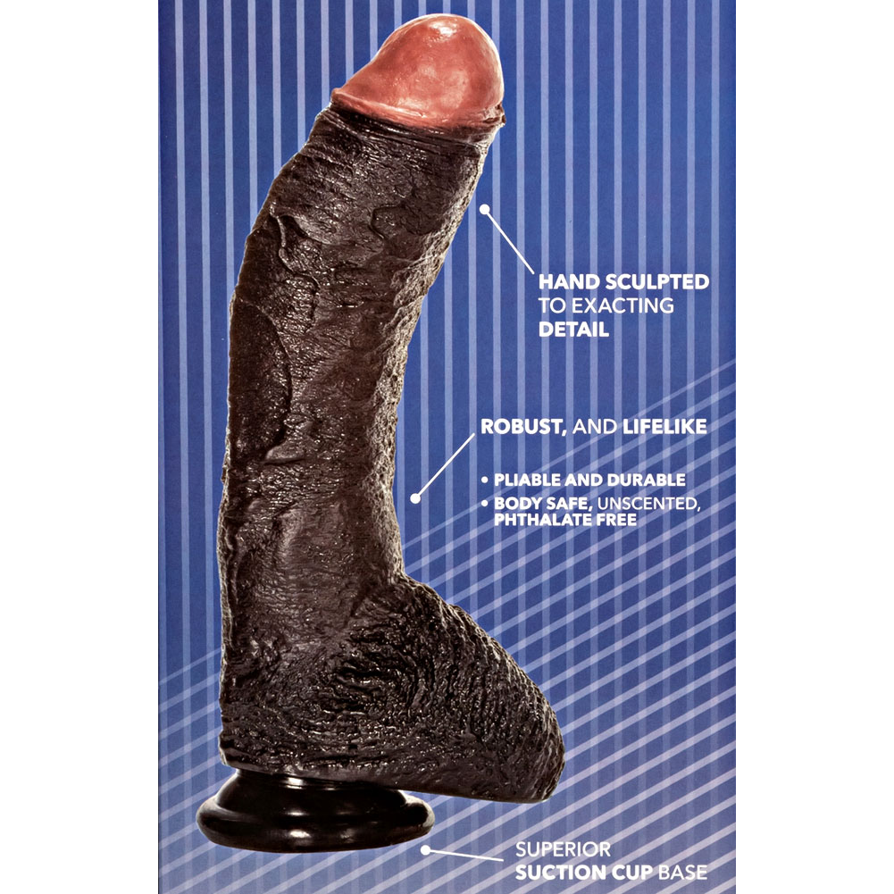 "California Exotics Sean Michaels Realistic Dong 10.5"" Ebony - View #1"