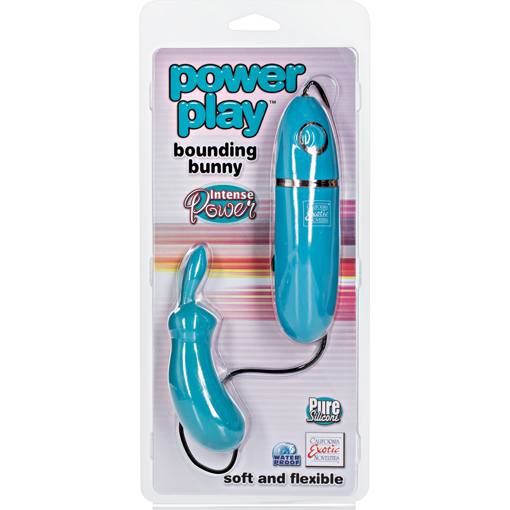"Power Play Silicone Bounding Bunny 4.75"" Teal - View #1"