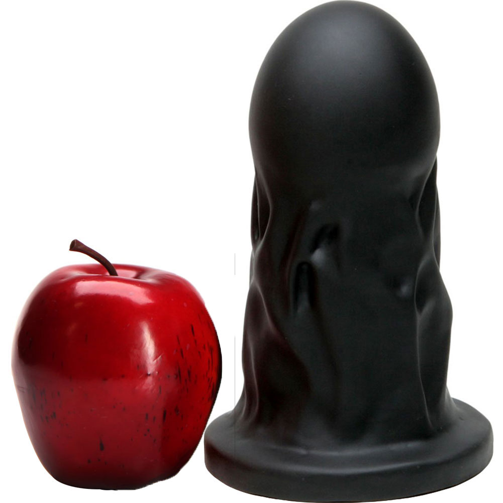 "Tantus Mr. Universe Silicone Butt Plug 7"" Black - View #1"