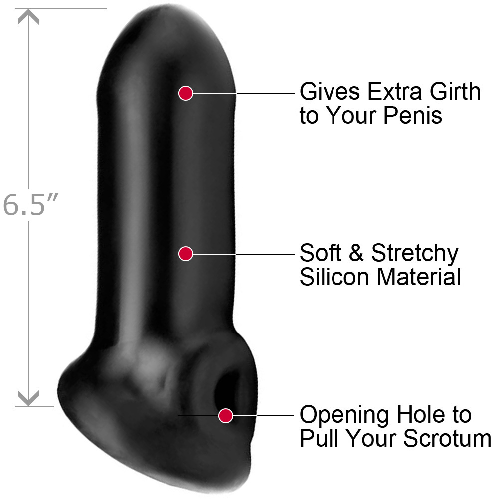 "Perfect Fit Fat Boy Sport Penis Extender 6.5"" Black - View #1"