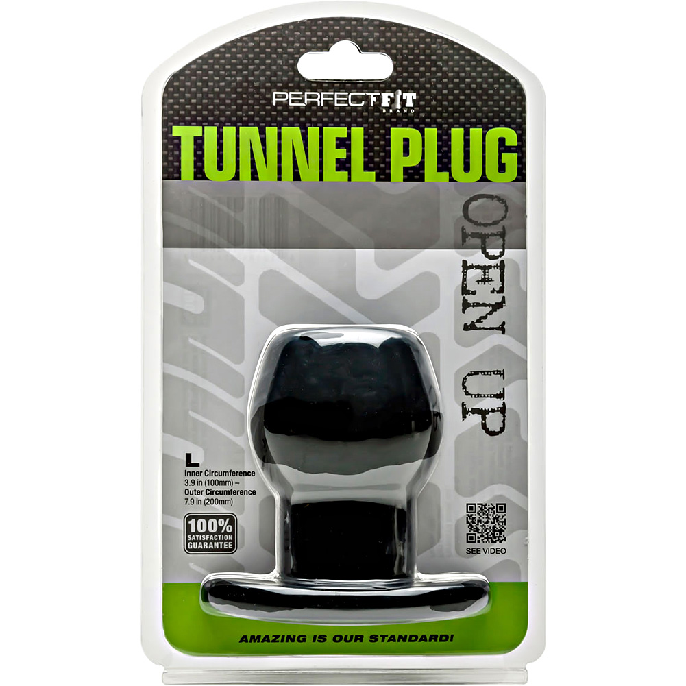 "Perfect Fit Tunnel Plug Large 4"" Black - View #1"