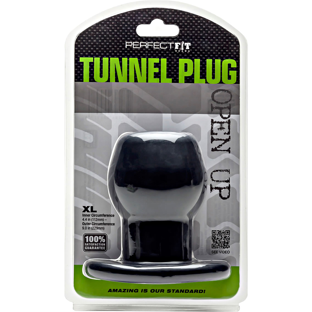 "Perfect Fit Tunnel Plug X- Large 5"" Black - View #1"