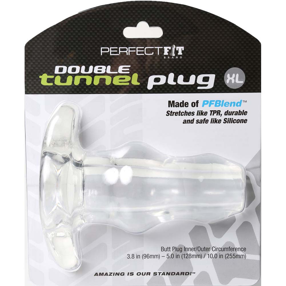 "Perfect Fit Double Tunnel Plug X- Large 6"" Clear - View #4"