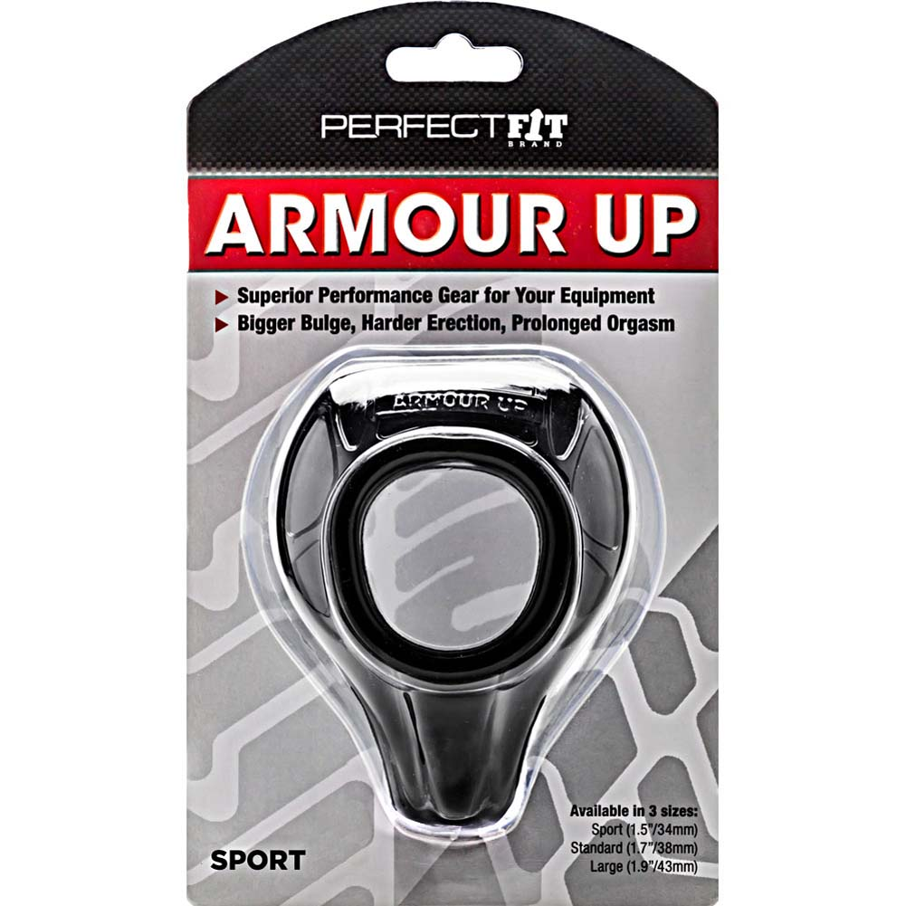 "Perfect Fit Armour Up Sport Cock Ring 1.5"" Black - View #1"