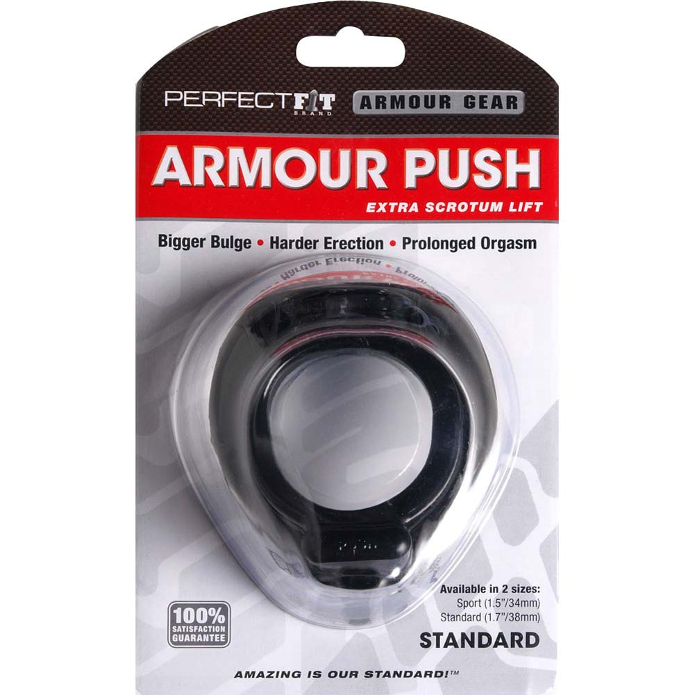 "Perfect Fit Armour Push Standard Erection Ring 1.75"" Black - View #1"