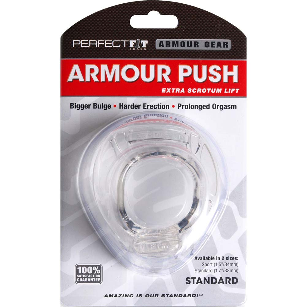 "Perfect Fit Armour Push Standard Erection Ring 1.75"" Clear - View #1"